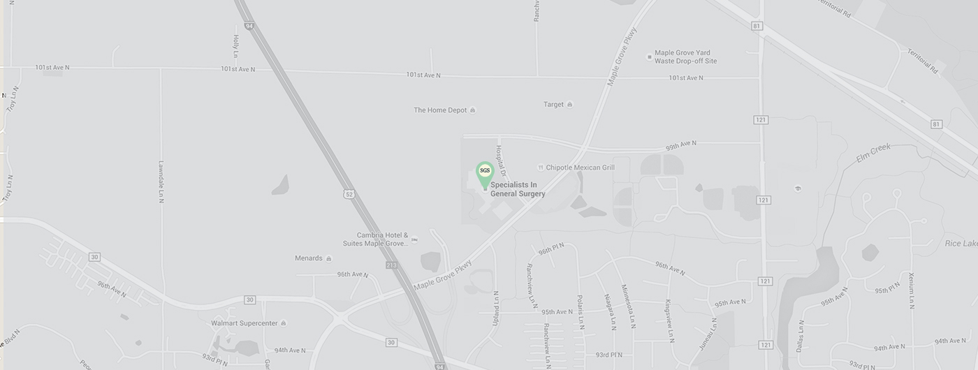 Specialists in General Surgery - Maple Grove Map