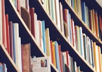 Rows of books on shelves