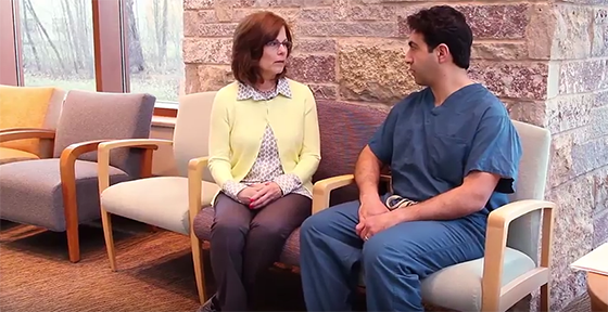 gallbladder surgery patient and surgeon